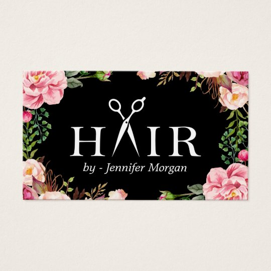 Floral hair stylist logo beauty salon appointment business for Gift card business model