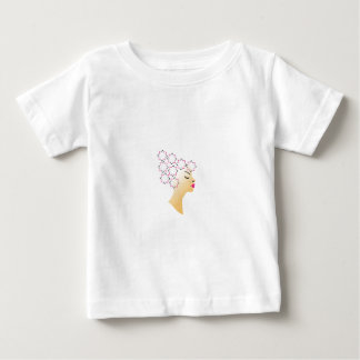 Floral hairstyle t-shirt