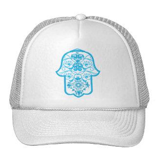 Floral Hamsa Blue Trucker Hat