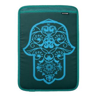 Floral Hamsa (Blue) MacBook Sleeve