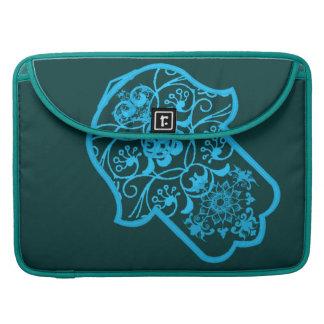 Floral Hamsa (Blue) Sleeves For MacBooks