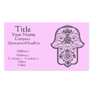 Floral Hamsa Double-Sided Standard Business Cards (Pack Of 100)