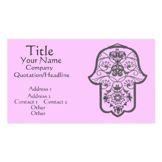 Floral Hamsa Business Card Templates
