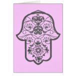 Floral Hamsa Card
