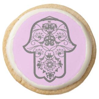 Floral Hamsa (Original) Round Premium Shortbread Cookie