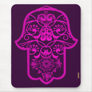 Floral Hamsa Pink Mouse Pad