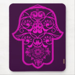 Floral Hamsa Pink Mouse Pads