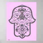 Floral Hamsa Poster