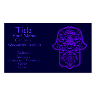 Floral Hamsa (Purple) Double-Sided Standard Business Cards (Pack Of 100)