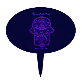 Floral Hamsa (Purple) Cake Topper