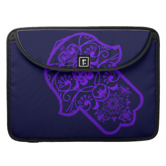 Floral Hamsa (Purple) MacBook Pro Sleeves