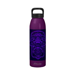 Floral Hamsa (Purple) Water Bottle
