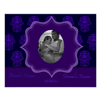 Floral Hamsa (Purple) (Wedding) Poster