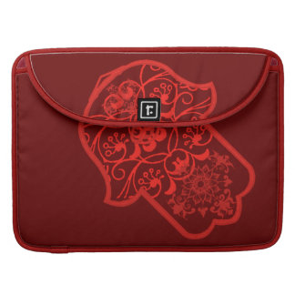 Floral Hamsa (Red) Sleeves For MacBooks