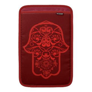 Floral Hamsa (Red) MacBook Sleeve