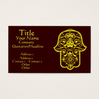 Floral Hamsa (Yellow) Business Card