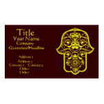Floral Hamsa (Yellow) Business Card Template
