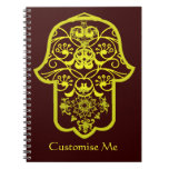 Floral Hamsa (Yellow) Notebook
