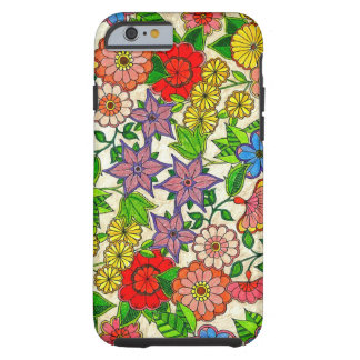 FLORAL HANDMADE COLORFUL TOUGH iPhone 6 CASE