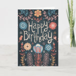 "Floral Happy Birthday Card<br><div class=""desc"">Floral Happy Birthday Card</div>"