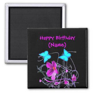 Floral  Happy Birthday Magnet