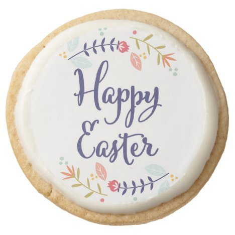 Floral Happy Easter Cookies