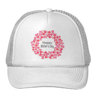 Floral Happy Mothers Day Trucker Hat