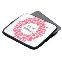 Floral Happy Mothers Day Laptop Computer Sleeves