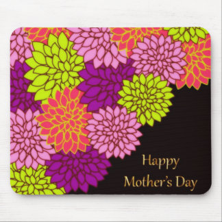 Floral Happy Mothers Day Mouse Pad