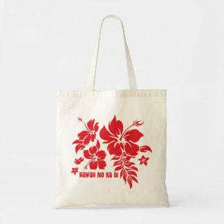 Floral hawaiano de Pareau del hibisco en el rojo