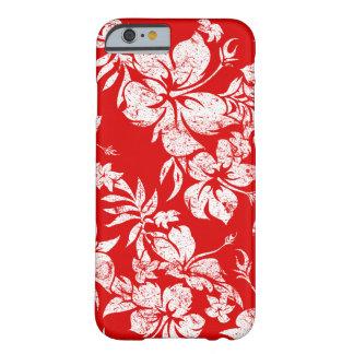 Floral hawaiano de Pareau del hibisco Funda De iPhone 6 Barely There