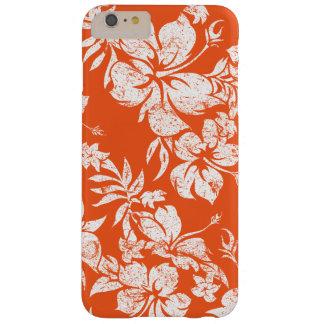 Floral hawaiano de Pareau del hibisco Funda De iPhone 6 Plus Barely There