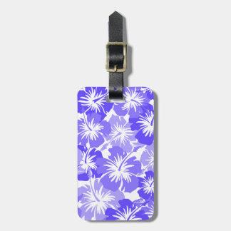Floral hawaiano del hibisco épico etiquetas para maletas