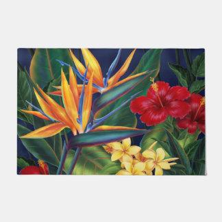 Floral hawaiano del paraíso tropical felpudo