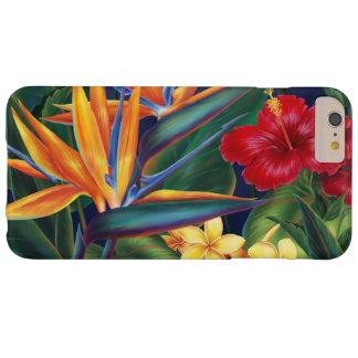 Floral hawaiano del paraíso tropical funda de iPhone 6 plus barely there