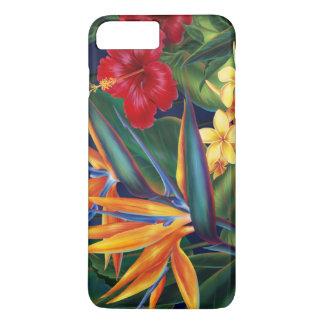 Floral hawaiano del paraíso tropical funda iPhone 7 plus