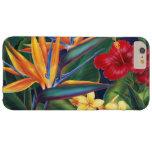 Floral hawaiano del paraíso tropical funda para iPhone 6 plus barely there
