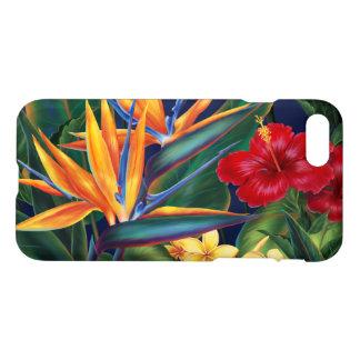 Floral hawaiano del paraíso tropical funda para iPhone 7