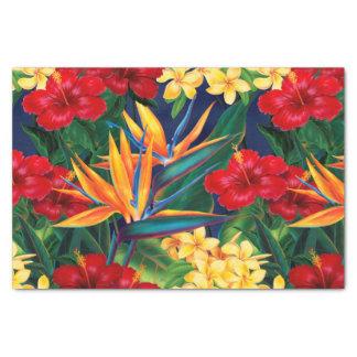 Floral hawaiano del paraíso tropical papel de seda pequeño