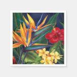 Floral hawaiano del paraíso tropical servilleta desechable