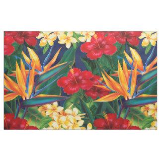 Floral hawaiano del paraíso tropical telas