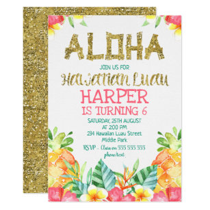 Luau Birthday Invitations Zazzle