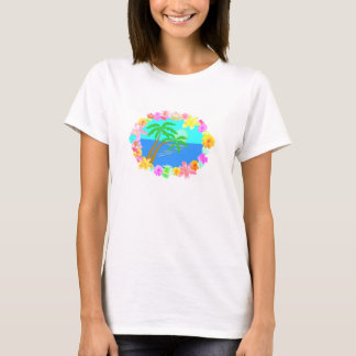 Floral Hawaiian Sunset T-Shirt