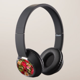 Floral headphone speakers