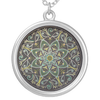 Floral healing Mandala green Pendientes Personalizados