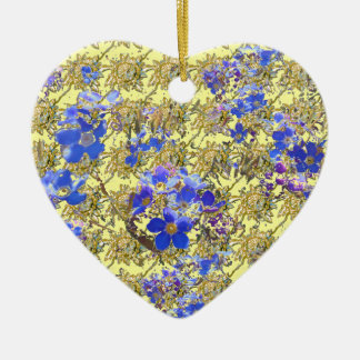 Floral Heart Ceramic Ornament