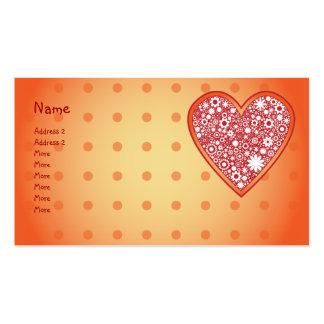 Floral Heart Design Business Card