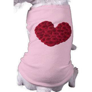 Floral Heart Doggie Tee Shirt