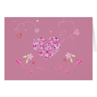 Floral heart for Valentine - Card