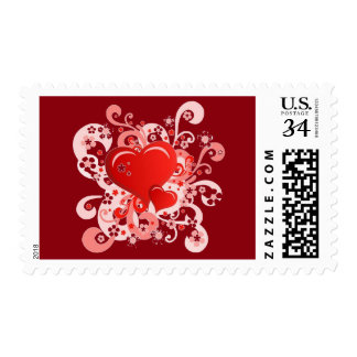 Floral heart for Valentine - Postage Stamp
